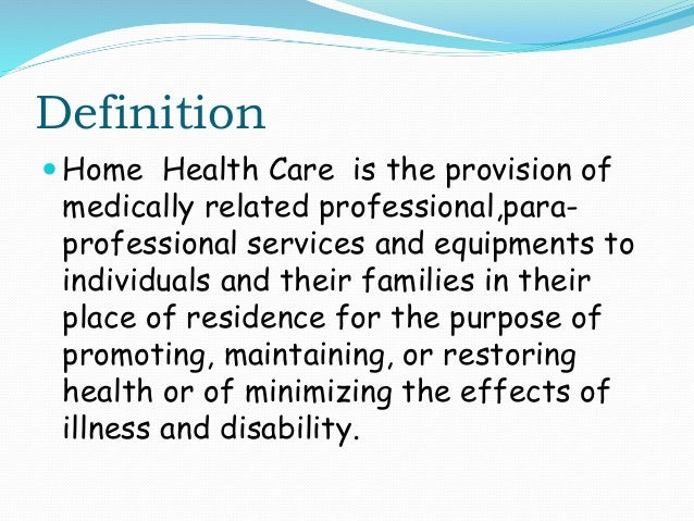 Health home model definition