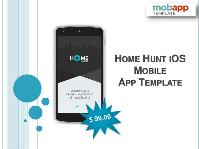 HOME HUNT IOS MOBILE APP TEMPLATE