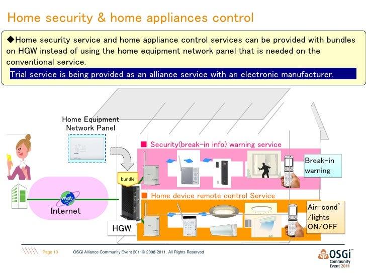 "Home ICT Services"" with OSGi-HGW at NTT - Takefumi Yamazaki"