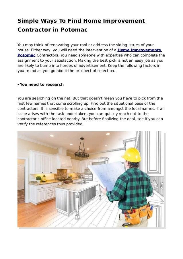 Best Home Improvements Potomac Services