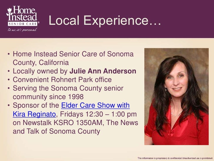 Home Instead Senior Care of Sonoma County CA Overview