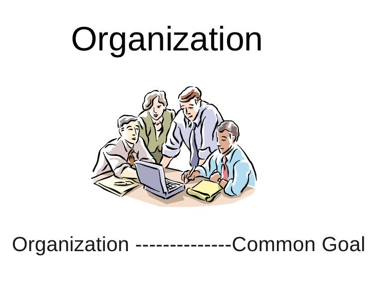 Organization     Organization --------------Common Goal