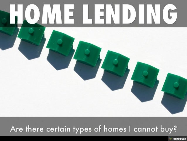 Home Lending for Real Estate buyers