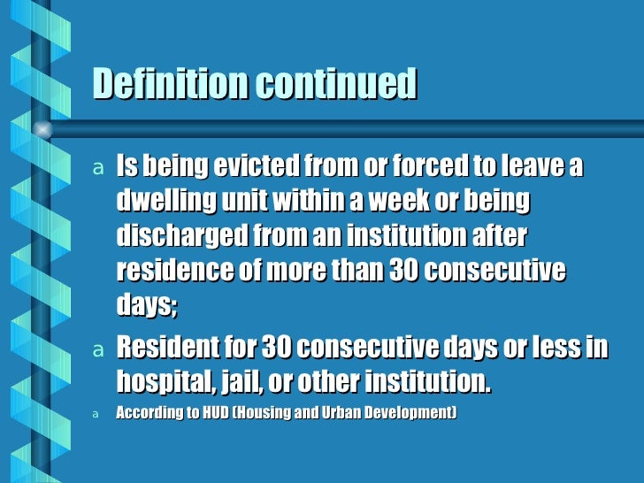 Definition Continued ...