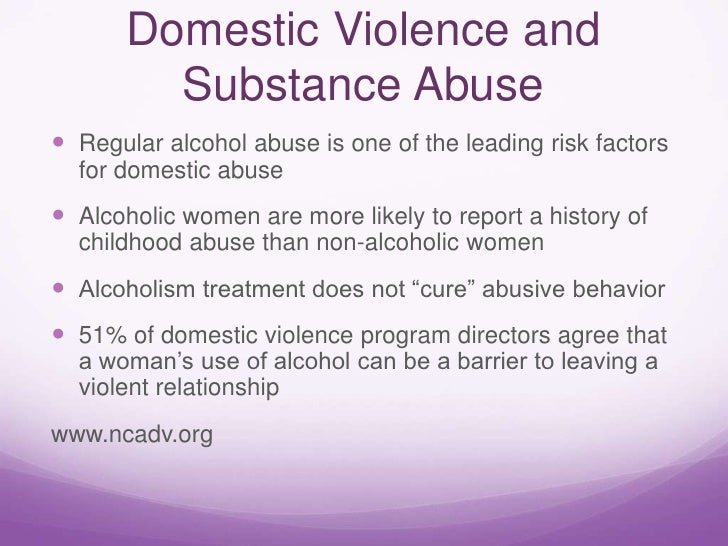 Relationship Between Drug Addiction, Alcoholism, and Violence