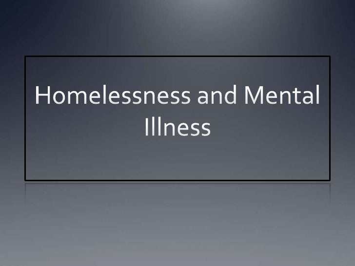 essay on mental health and homelessness