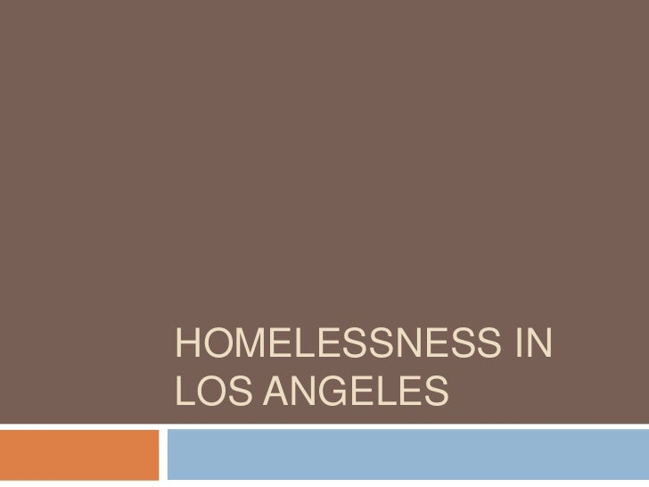 Homelessness in Los angeles<br />