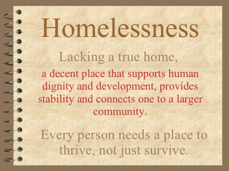 homelessness thesis statement