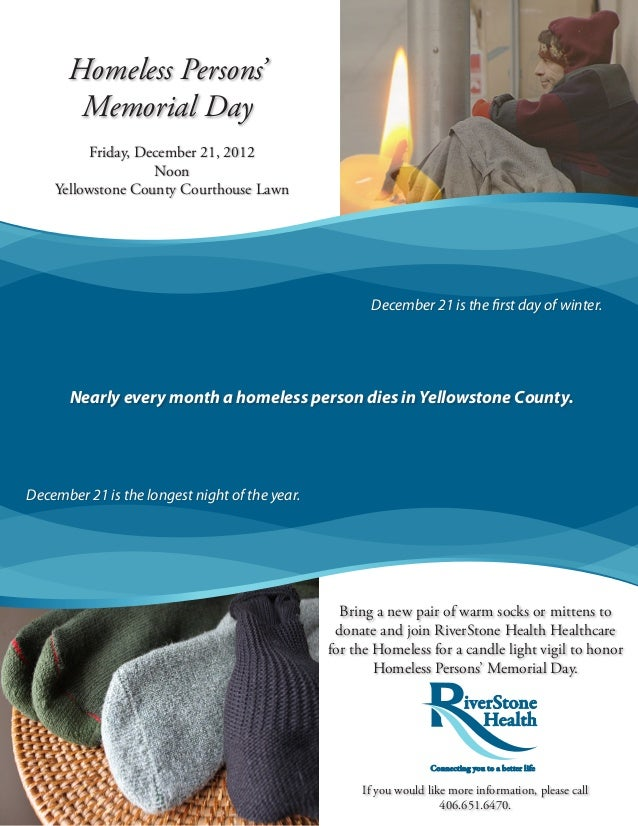 Homeless Persons'       Memorial Day          Friday, December 21, 2012                    Noon    Yellowstone County Cour...