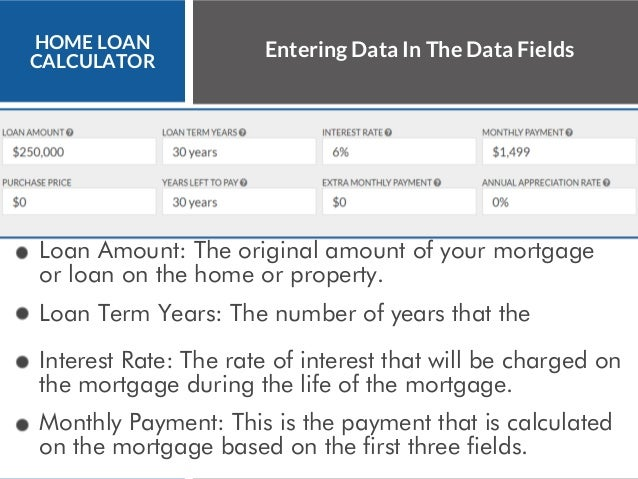 home mortgage loan calculator  excel mortgage calculator