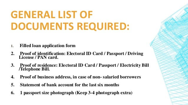 Documents Required For Your Home Loan Application Home Loans In D