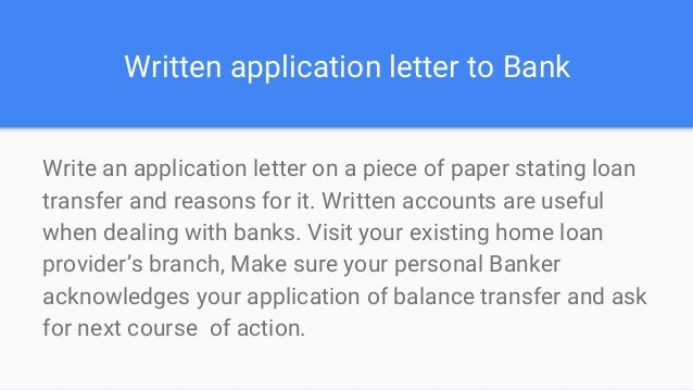 Why consider home loan transfer from present bank loaneasy letter thecheapjerseys Image collections
