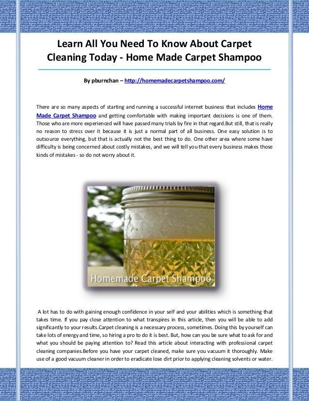 how to make homemade carpet shampoo