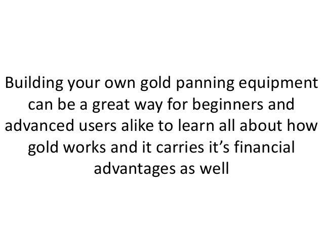 Homemade Gold Panning Machine; 2.
