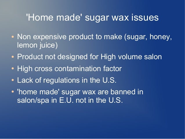 how to make homemade sugar wax