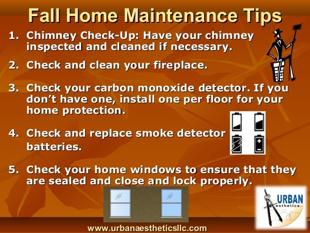Fall Home Maintenance Tips home maintenance tips