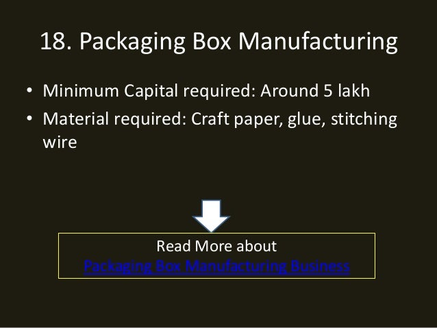 Home Based Manufacturing Business Ideas In India Bestchristmasgifts Co