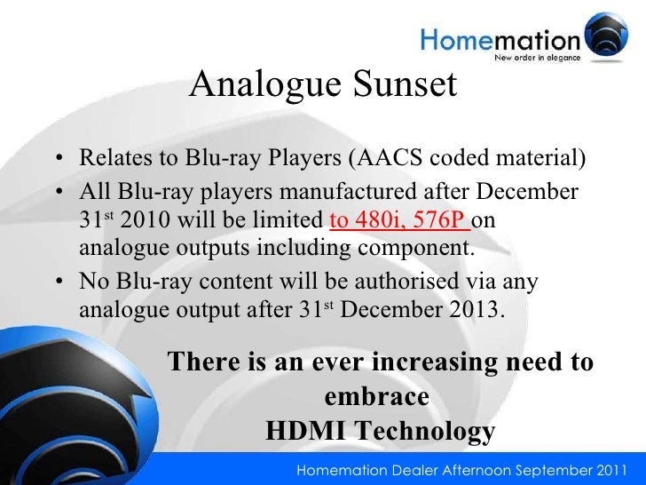 Homemation - HDMI & HDBaseT™  Slide 3