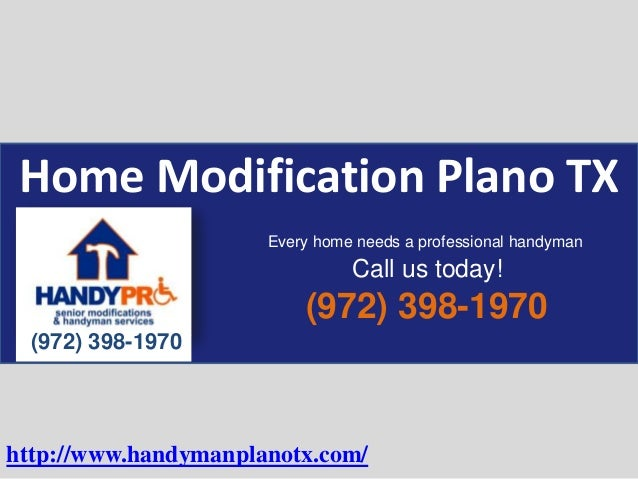 Home Modification Plano TX (972) 398-1970 (972) 398-1970 Every home needs a professional handyman Call us today! http://ww...