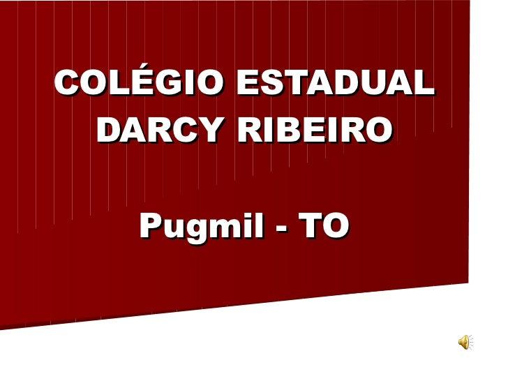 COLÉGIO ESTADUAL DARCY RIBEIRO Pugmil - TO