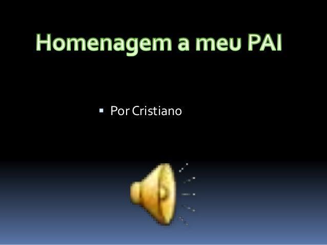  Por Cristiano
