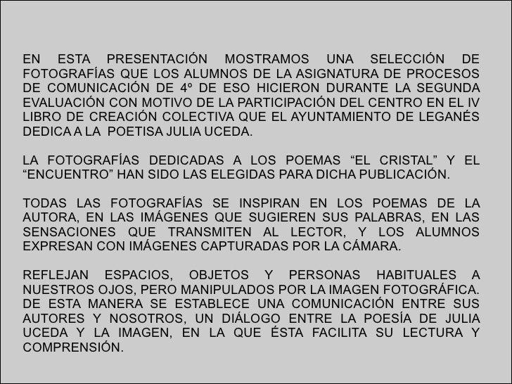 Homenaje a Julia Uceda Slide 2