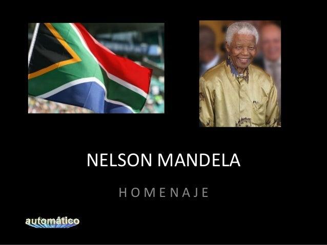 NELSON MANDELA HOMENAJE