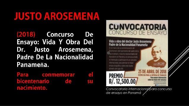COMPILACIÓN E EDICIÓN_ JULIANA VILLAMONTE E ALSOLA 105 ñ Convocatoria internacional para concurso de ensayo en Panamá