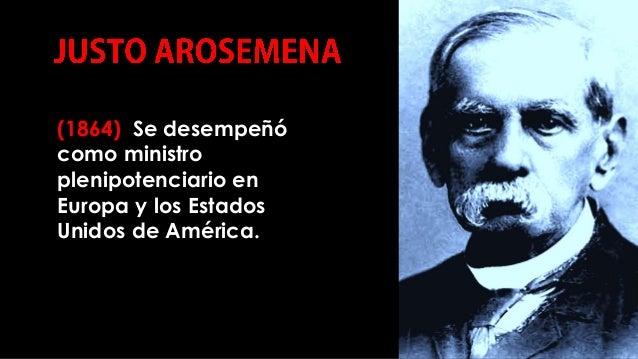 (1864) Se desempeñó como ministro plenipotenciario en Europa y los Estados Unidos de América. COMPILACIÓN E EDICIÓN_ JULIA...