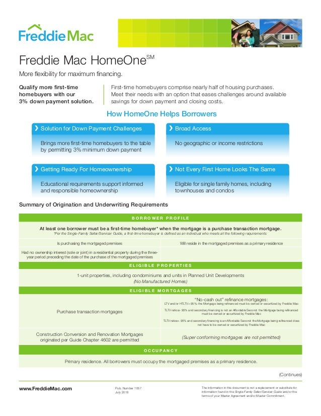 www.FreddieMac.com The information in this document is not a replacement or substitute for information found in the Single...