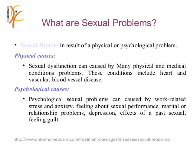 Sexual anxiety problems