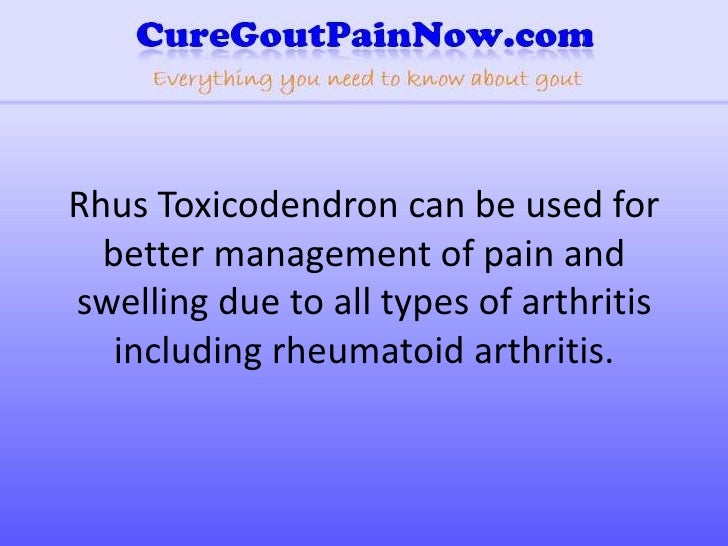 Homeopathic Remedy For Arthritis Pain