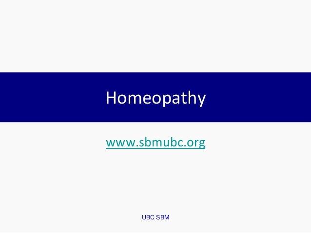 UBC SBM Homeopathy www.sbmubc.org
