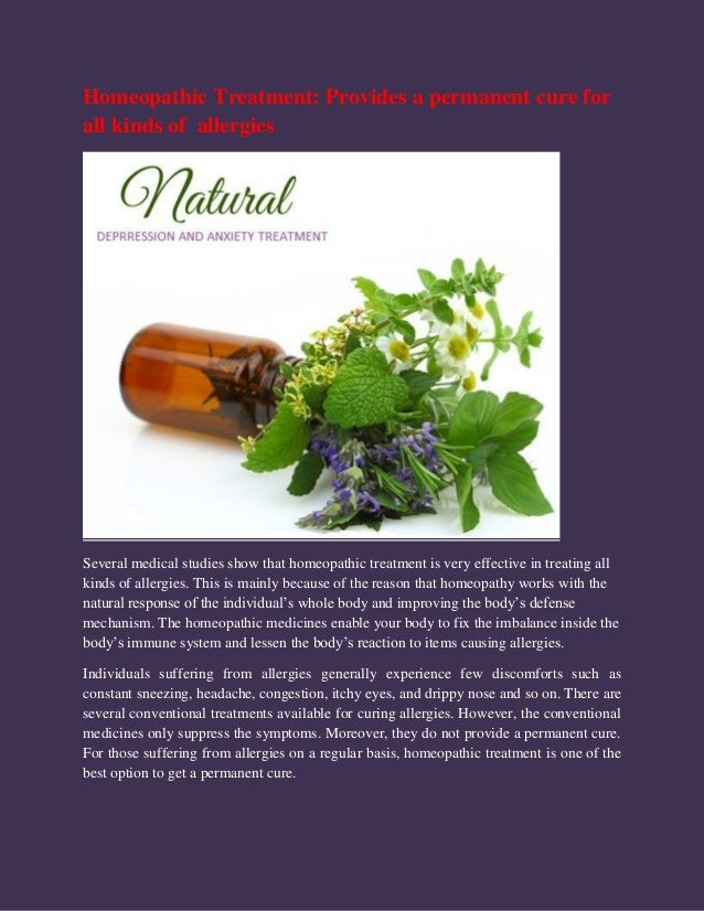 Homeopathic Treatment for Allergies