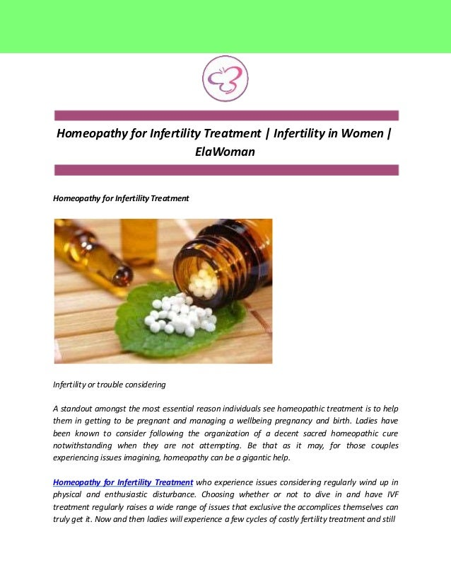 Homeopathy for Infertility Treatment | Infertility in Women