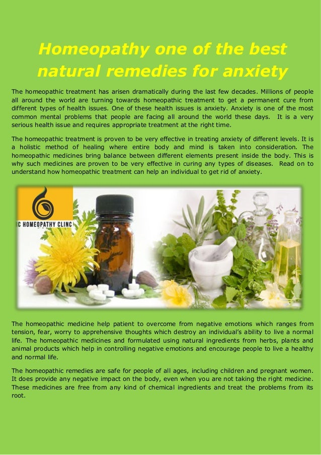 Anxiety Remedies: Herbs and Homeopathy