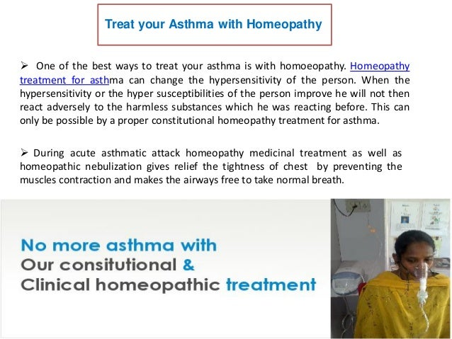 Homeopathy Treatment For Asthma Is Very Safe And Without