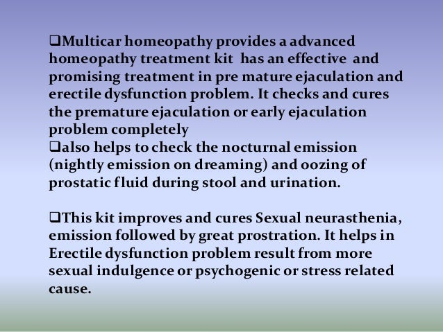 Homeopathy treatment for pre mature ejaculation Slide 2