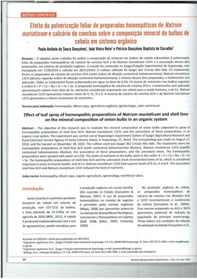 Homeopatia vegetal: Efeito da pulverização foliar de preparados homeopáticos de Natrum  muriaticum e calcário de conchas s...