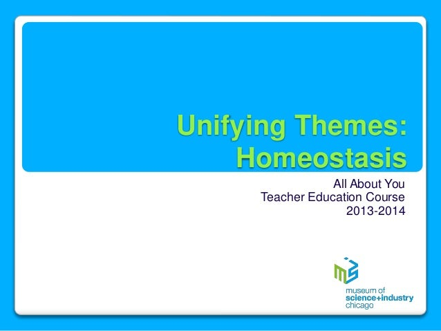 Unifying Themes: Homeostasis All About You Teacher Education Course 2013-2014