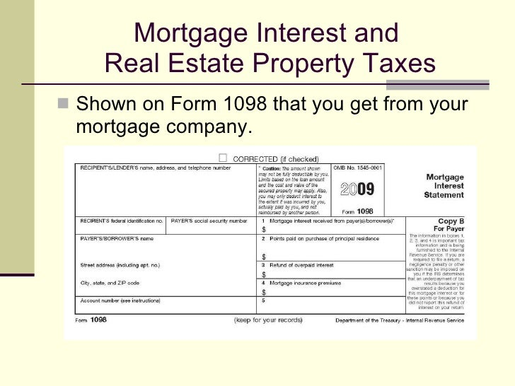 Homeownership And Your Taxes