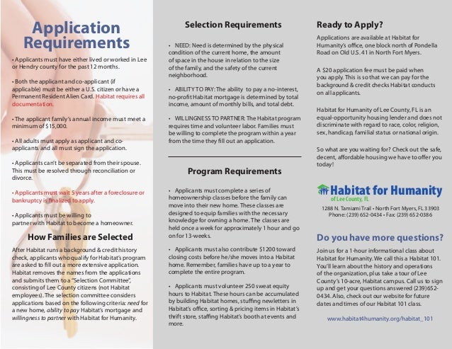 Application                                               Selection Requirements                             Ready to Appl...