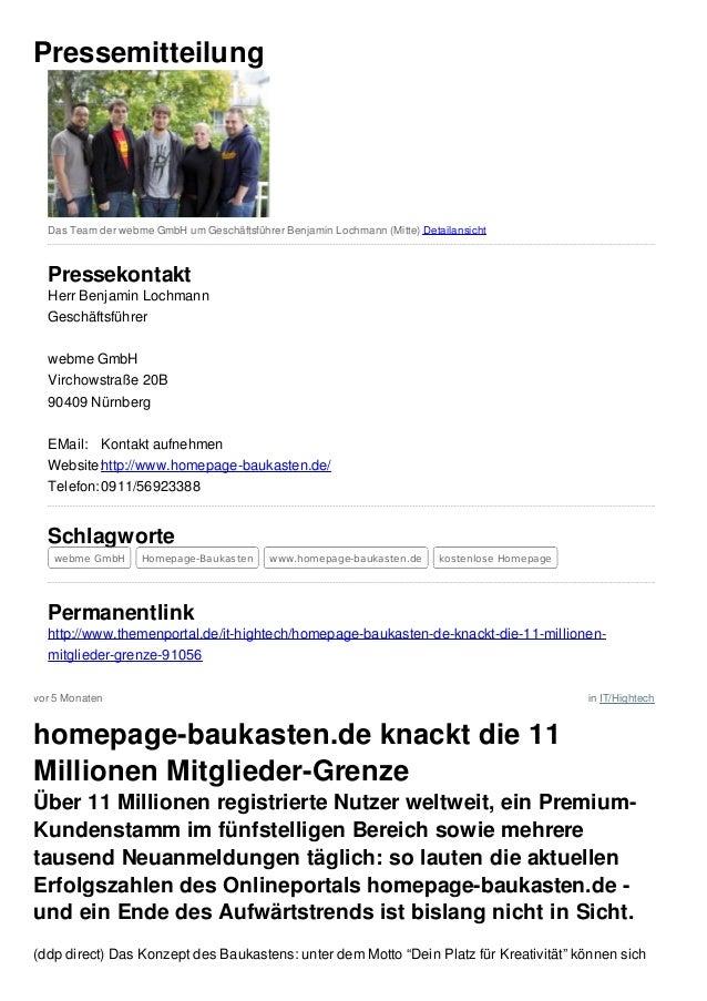 vor 5 Monaten in IT/HightechPressemitteilungDas Team der webme GmbH um Geschäftsführer Benjamin Lochmann (Mitte) Detailans...