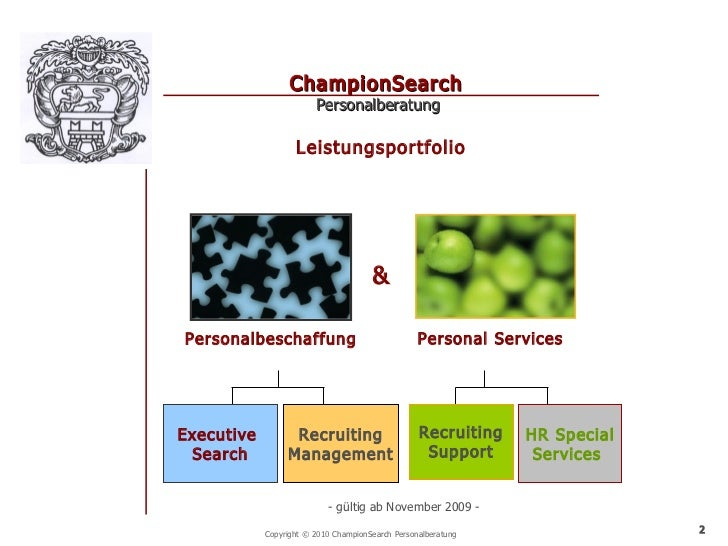 ChampionSearch                        Personalberatung                   Leistungsportfolio                               ...