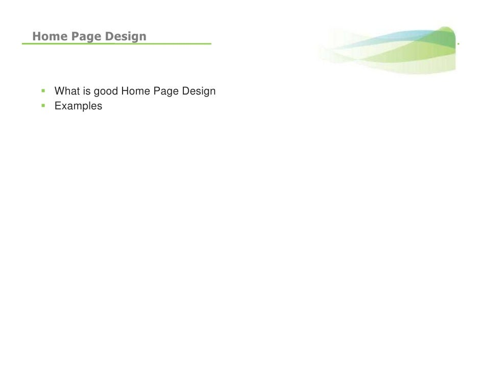 Home Page Design       What is good Home Page Design    Examples