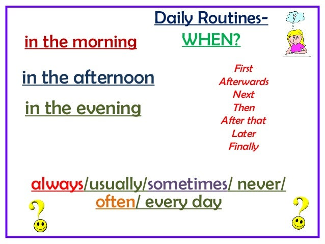 daily school routine Set up a routine for your classroom procedure on the first day your students will feel organized and the days will run more smoothly new teachers will find this.