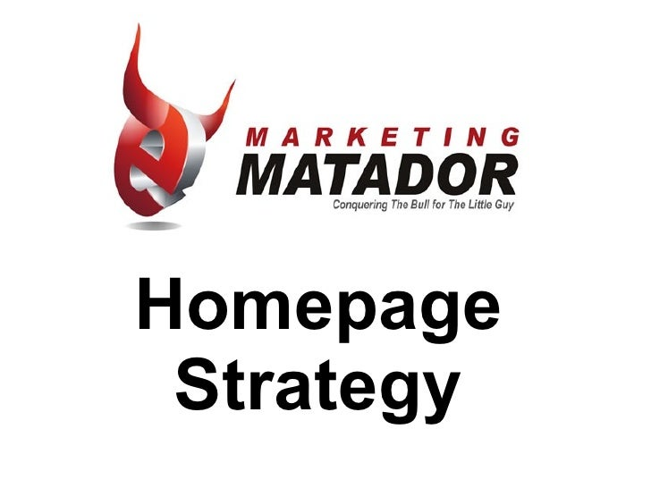 Homepage Strategy