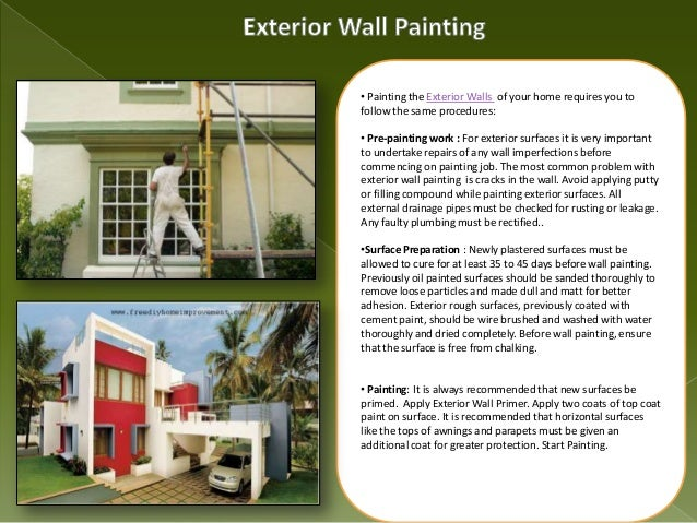 Home painting guide interior exterior wall painting - Prep exterior walls for painting ...