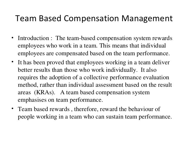 team performance reward You've been told that getting the most from your team depends on rewarding and recognizing them collectively but it's tough to do that, especially when most management systems are so focused on individual performance, undermining the very teamwork you're hoping to encourage luckily, you don.