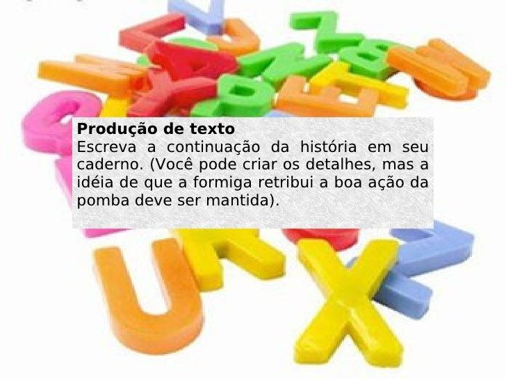 Produçaõ textual Slide 3